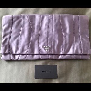 💯AUTH NEW PRADA RASO SATIN CLUTCH BAG EVENING 🎁